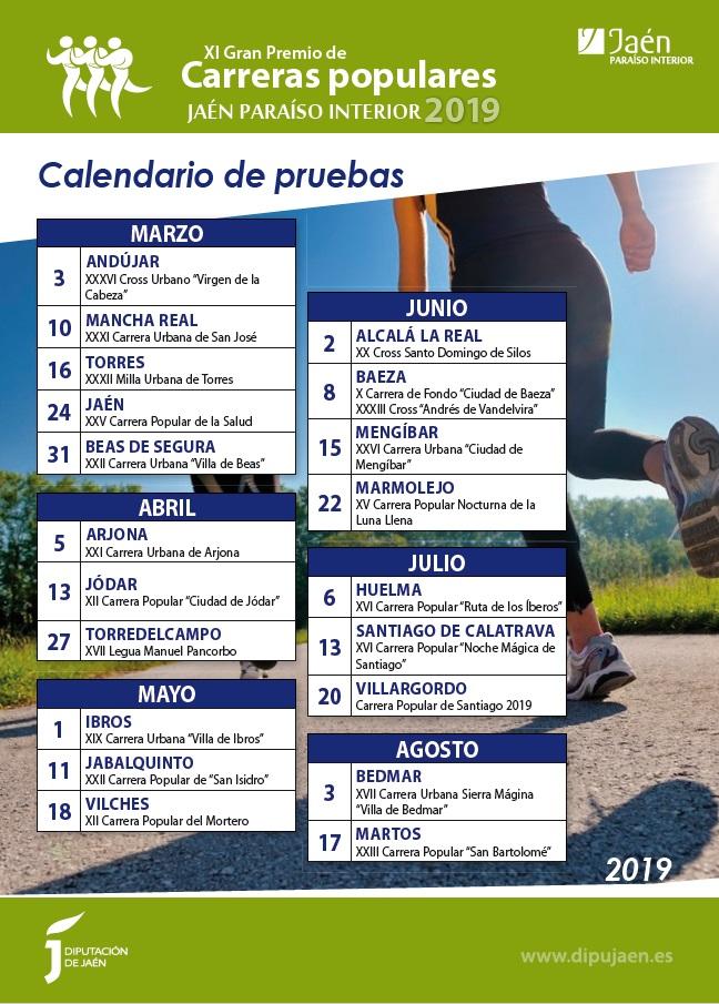 Carreras Populares Calendario.Diputacion De Jaen Xi Gran Premio De Carreras Populares Jaen
